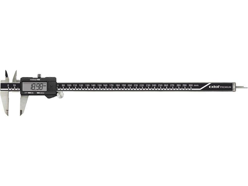 EXTOL Premium měřidlo posuvné digitální 300mm velký displej 3428