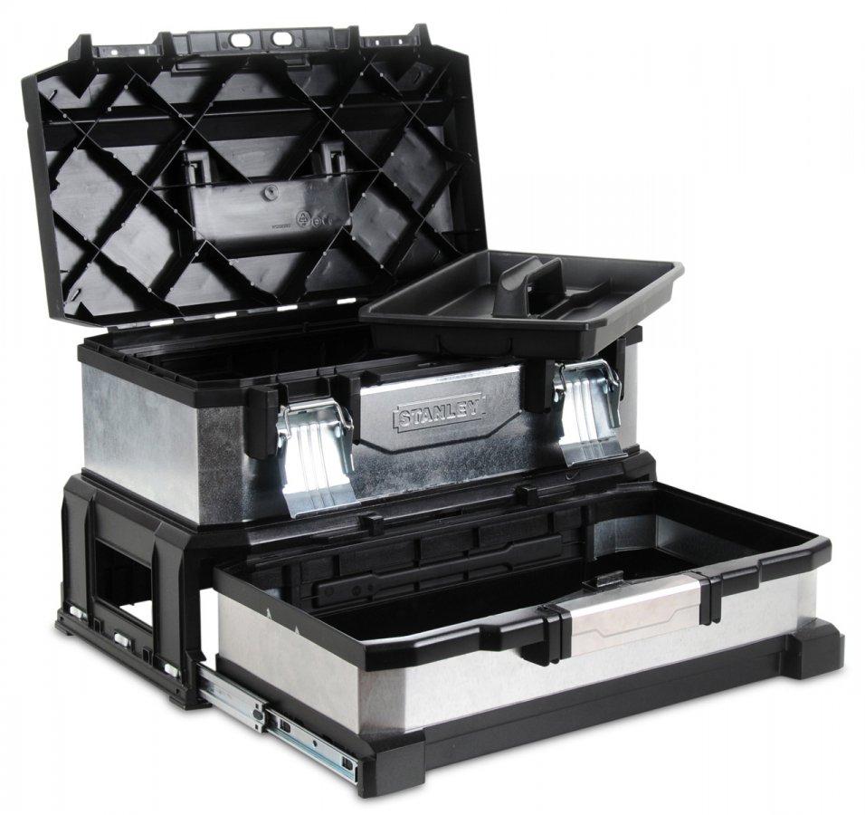 STANLEY 1-95-830 kovoplastový box na nářadí se zásuvkou galvanizovaný