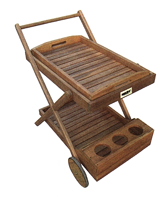 HECHT TROLLEY A dřevěný servírovací stolek
