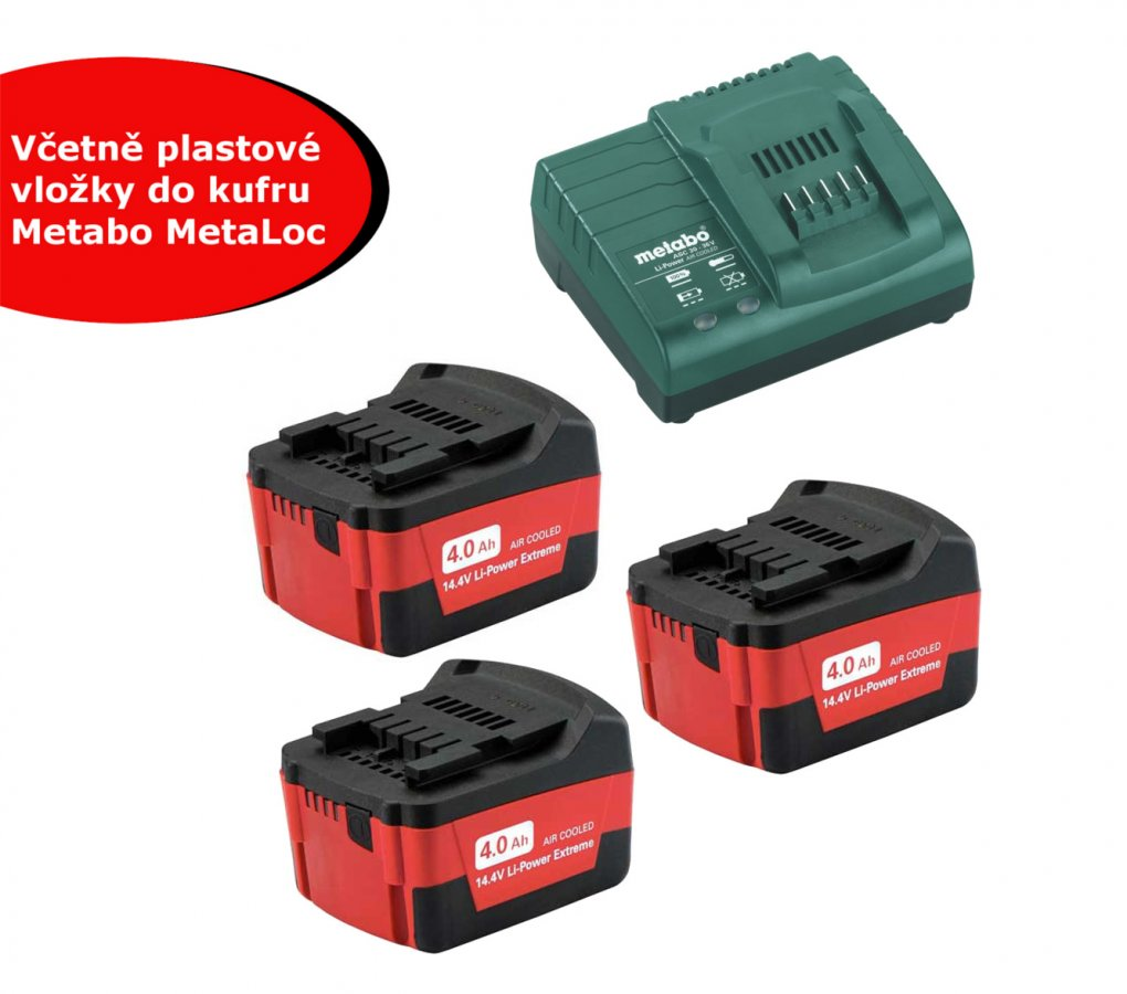 METABO Basic-Set 4.0Ah (3x akumulátor 18V/4.0Ah + nabíječka ASC30-36) 68504900