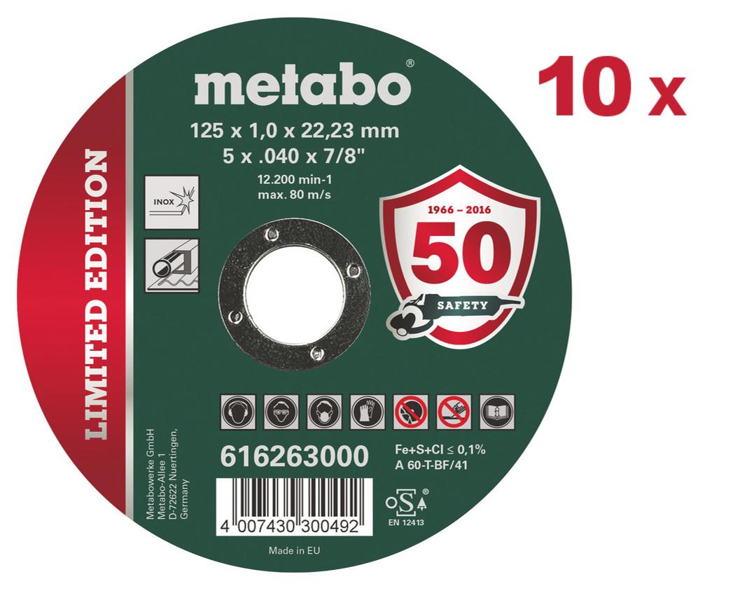 METABO 125x1mm Inox TF 41 řezný kotouč 616263 - 10ks