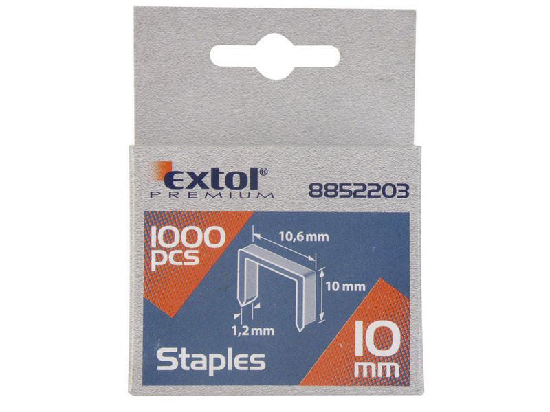 EXTOL PREMIUM spony 12mm 10,6x0,52x1,2mm 1000ks 8852204
