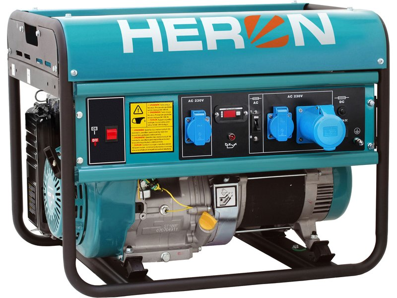 HERON EGM 68 AVR-1 elektrocentrála benzínová 15HP, 7 kW, 8896119