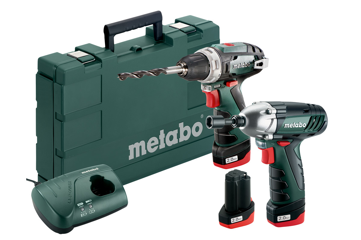 METABO Combo Set 10.8 V PowerMaxx BS Basic + SSD LiIon 3x 2.0Ah 685092000