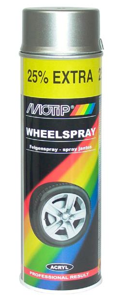 MOTIP stříbrný lak na disky kol Rally 500ml 04007