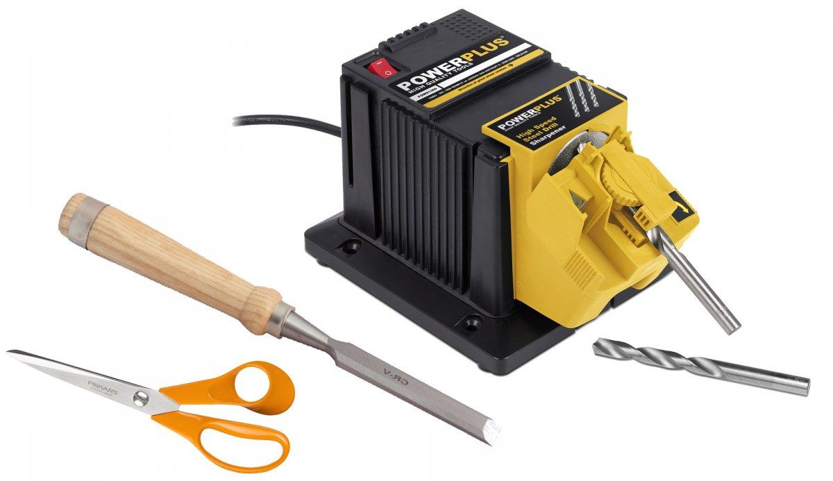 POWERPLUS POWX1350 multifunkční bruska na vrtáky, nože, nůžky, dláta apod.