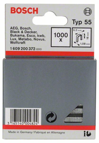 BOSCH spony typ 55, 16/6mm 1000ks 1609200372