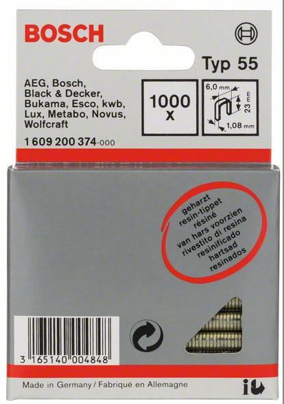 BOSCH spony typ 55, 23/6mm 1000ks 1609200374