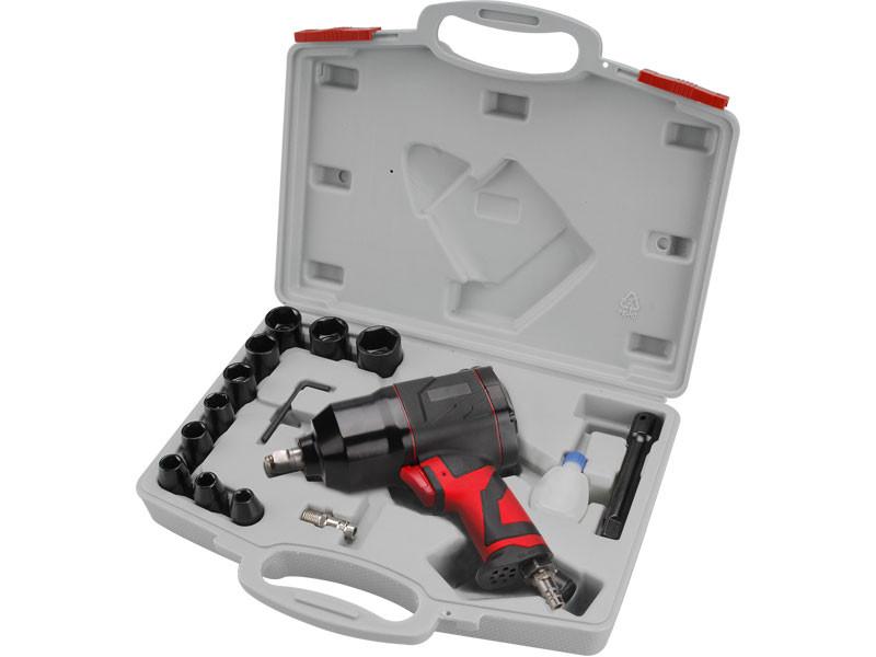 EXTOL Premium WI 340 B vzduchový příklepový utahovák, sada 15ks 8865004