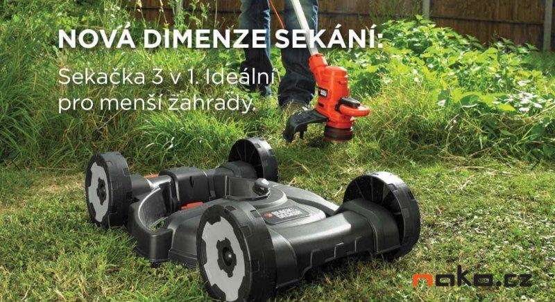 BLACK&DECKER ST5530CM strunová sekačka s vozíkem 3in1 550W