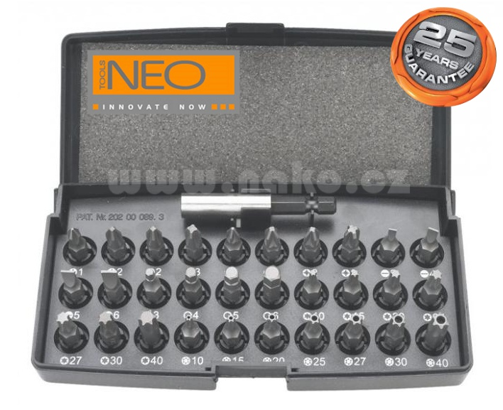NEO TOOLS sada bitů 31 dílná 06-103