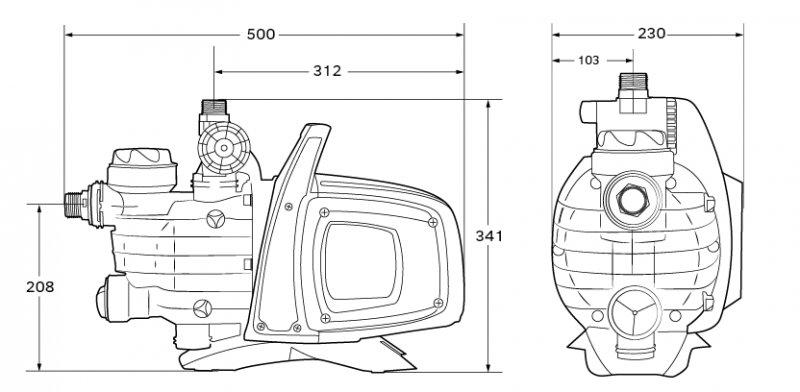 EASY BOOST 1100 AUTOMATIC elektronická samonasávací vodárna typu JET