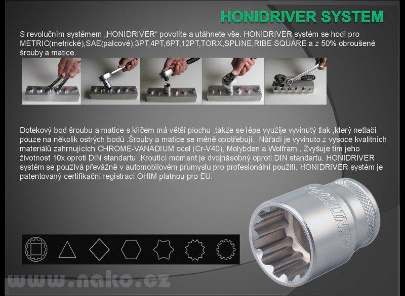"HONITON H4399 sada hlavic DRIVER 1/4""3/8""1/2"" (99 dílů)"