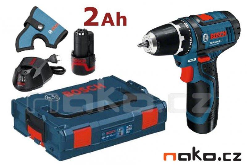 BOSCH GSR 12V-15 Professional aku šroubovák L-Boxx, 2x2Ah, 0601868109