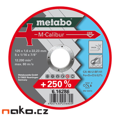 METABO kotouč M-Calibur 125x1,6x22,2mm 6162860