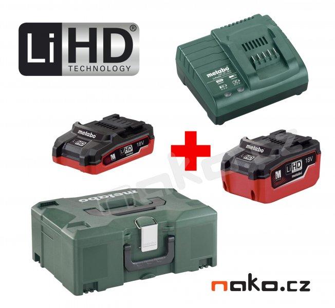 METABO Basic Set 18V LiHD (akumulátor 3.5+5.5Ah+nabíječka ASC 30-36+MetaLock II) 685079