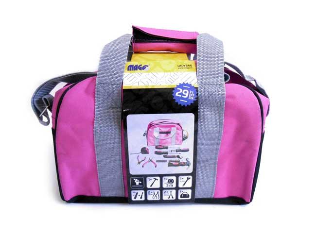 MAGG LADYBAG sada nářadí pro ženy 28 dílů v přenosné tašce