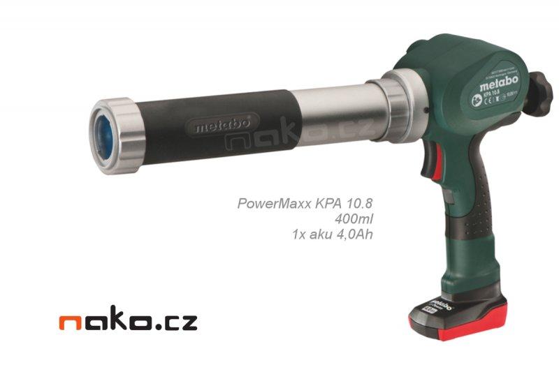 Metabo PowerMaxx KPA 10.8 400ml (1x4,0Ah) aku vytlačovací pistole na tmely