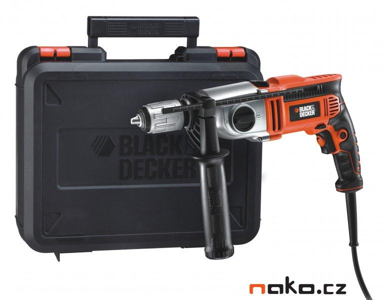 BLACK&DECKER KR911K příklepová vrtačka v kufru