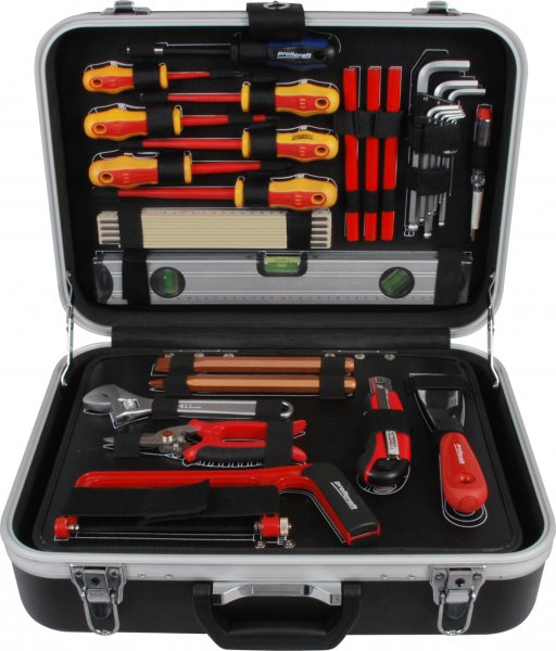 PROJAHN 8683 elektrikářský kufr s nářadím 128dílů