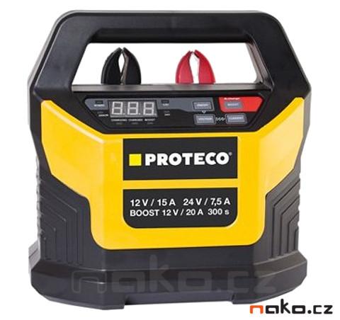 PROTECO elektronická nabíječka auto a moto baterií 12/24V BOOST 51.08-AN-1224-EL