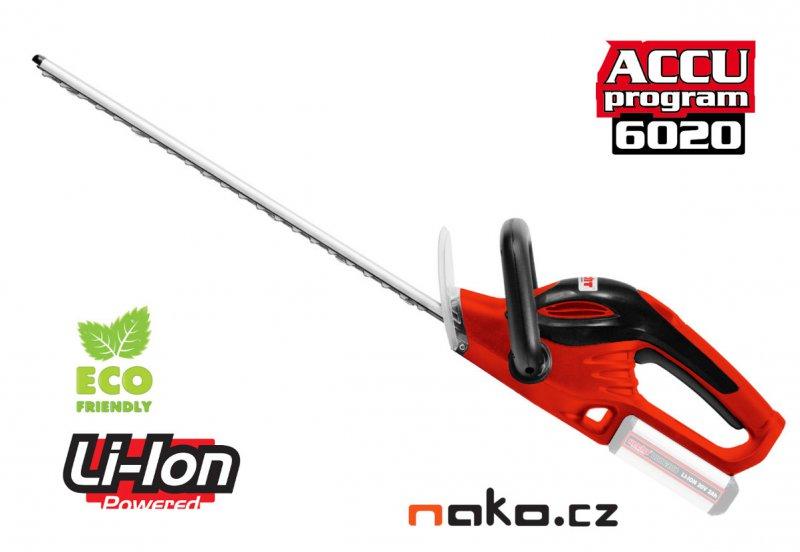 HECHT 6020 aku nůžky na živý plot 20V bez baterie