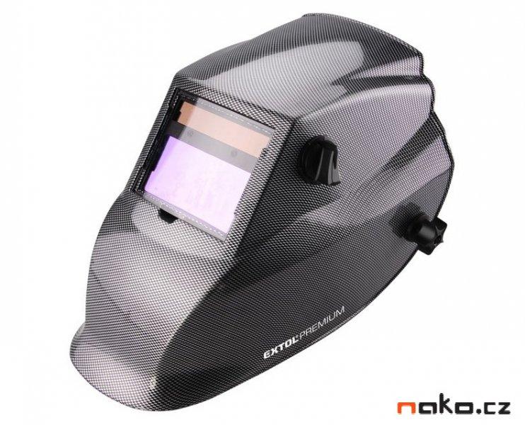 EXTOL PREMIUM WH800 svářecí samostmívací kukla karbonová 8898027