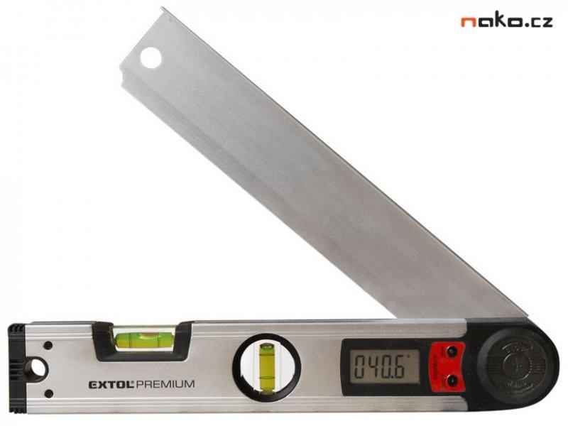 EXTOL PREMIUM 8823501 vodováha s digitálním úhloměrem 305mm