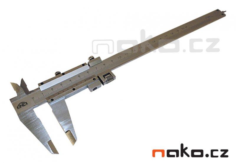 KINEX měřítko posuvné 200/0.02 hloubkoměr, jemné stavění, šroubek, 25 1238, 6002