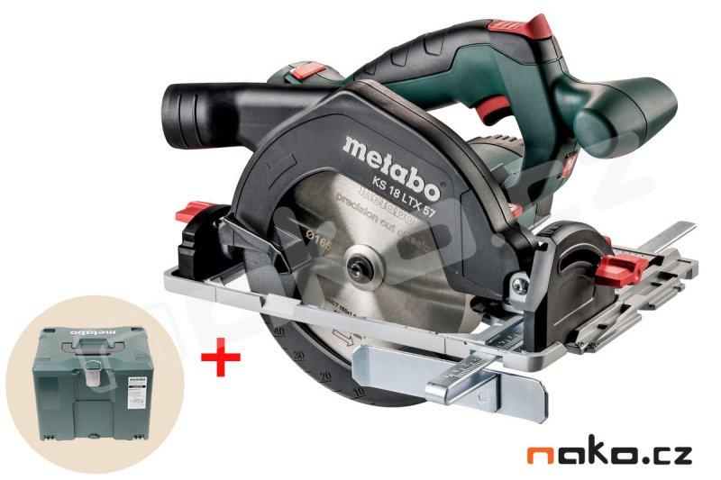 METABO KS 18 LTX 57 aku okružní pila bez baterie v kufru Metaloc 601857840