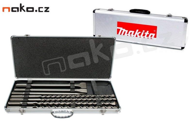MAKITA D-40571 sada sekáčů a vrtáků SDS-MAX v hliníkovém kufru