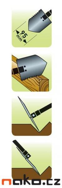 EXTOL PREMIUM lopatka skládací s motyčkou 8877030