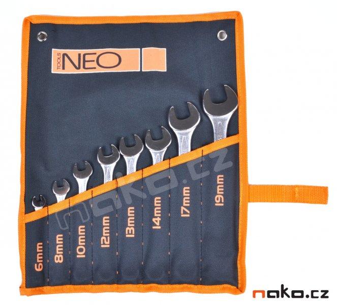 NEO TOOLS sada očkoplochých klíčů 6-19mm, 8ks, 09-751