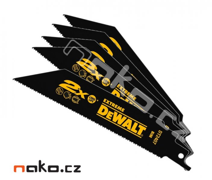 DeWALT DT2407 pilový list 152x1,8-1,4mm BiM do ocasky, ocel, 5ks