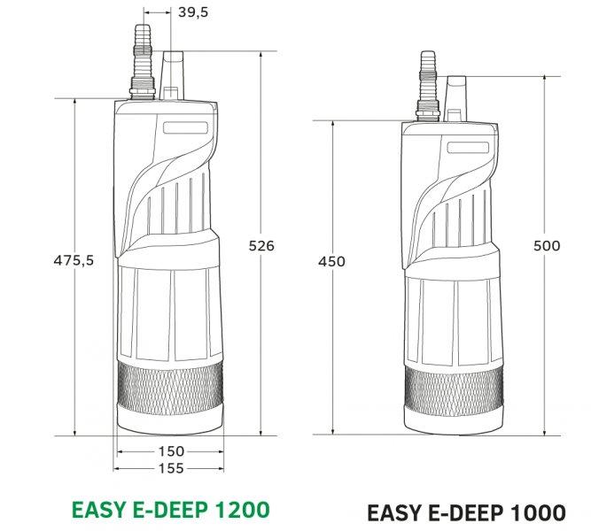 EASY E-DEEP 1000 automatická ponorná vodárna