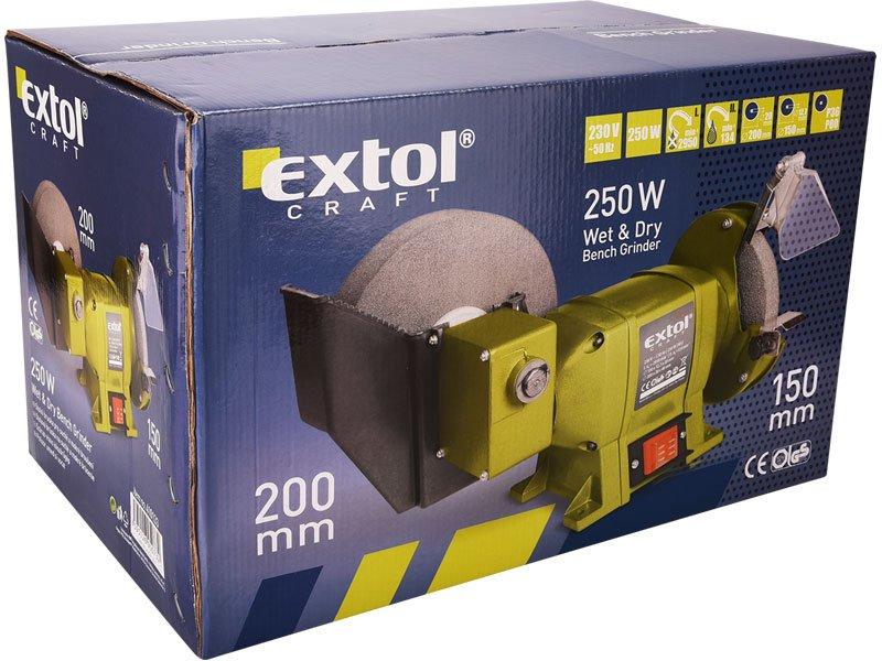 EXTOL CRAFT 410133 bruska stolní s pomaloběžným kotoučem 250W