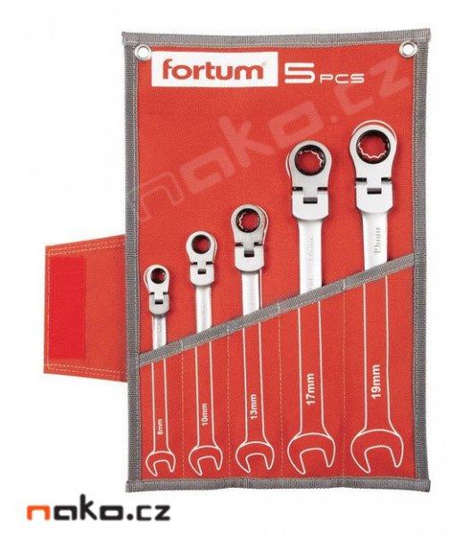 FORTUM 4720201 sada ráčnových očkoplochých kloubových klíčů