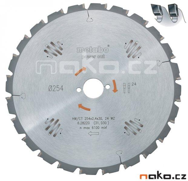Metabo kotouč pilový 254x2,4/1,8x30 24WZ 5° neg. 6.28220