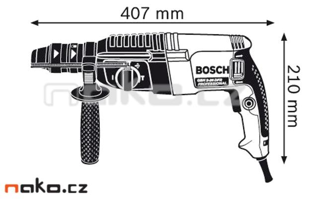 BOSCH GBH 2-26 DFR vrtací a sekací kladivo 0611254768