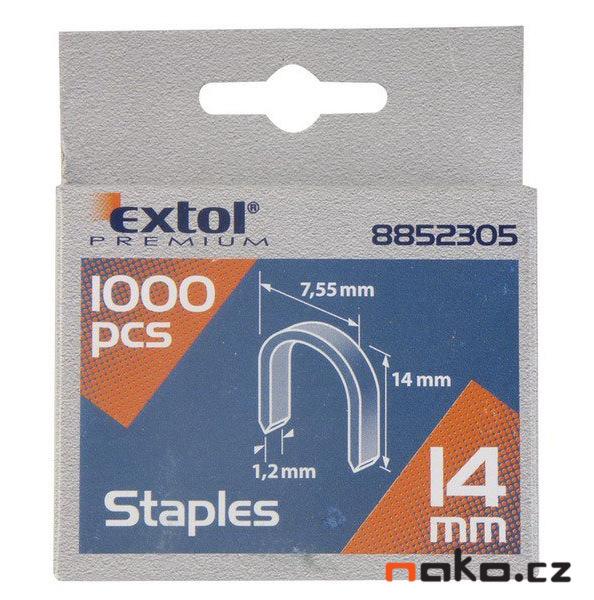 EXTOL PREMIUM spony oblé 7,55x0,52x1,2mm, 1000ks 8852305