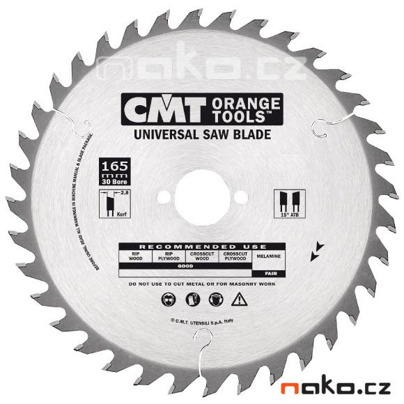 CMT C29116524M kotouč pilový vidiový 165x2,6x30mm Z24 15°