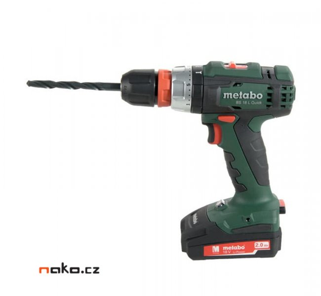 METABO BS 18 L Quick Set aku vrtačka 2x2,0Ah Li-Power 602320870