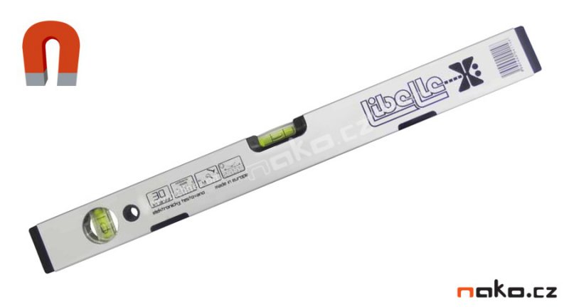 Vodováha LIBELLE VVM 180cm magnetická, 2 libely ZN15218