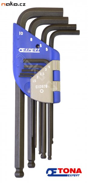 TONA E113976T sada imbus klíčů s kuličkou 1.5-10