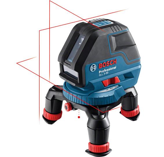 BOSCH GLL3-50 křížový laser + BM1+LR2 LBoxx 0601063803