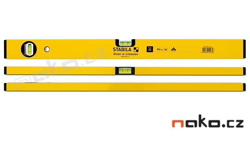 STABILA 70 vodováha 200cm, přesnost 0,5mm/m