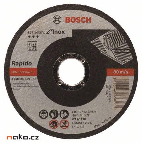 BOSCH 150x1,6mm řezný kotouč Standard for INOX 2608601513
