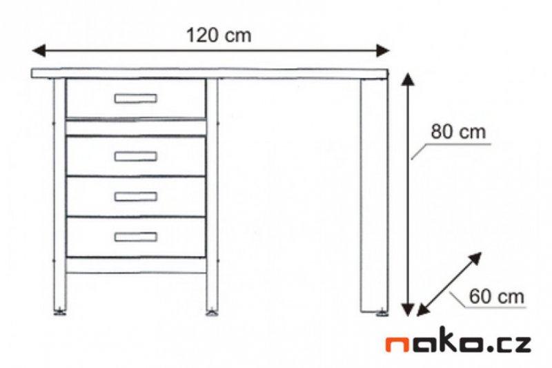 MARS 5803 pracovní dílenský stůl 4x zásuvka