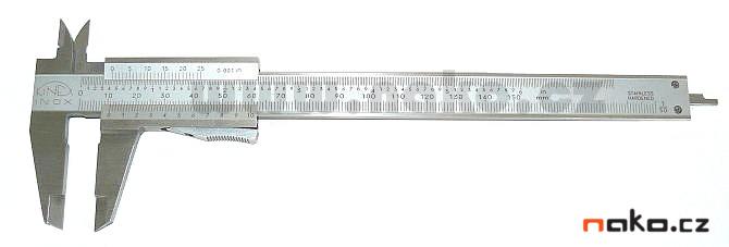 KINEX měřítko posuvné 150/0.05 s hloubkoměrem, aretace tlačítkem, 251238, 6000.3