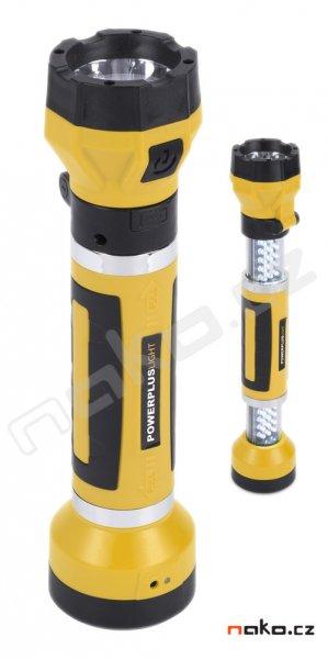 POWERPLUS Light POWLI423 ruční nabíjecí LED svítilna (baterka) 1x1W + 30x1,8W